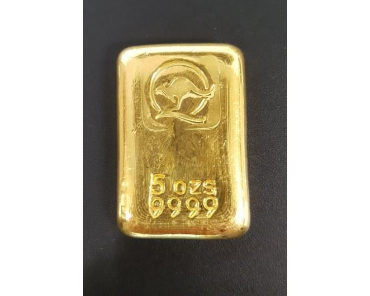 5oz-Queensland-Mint-Gold-Cast-Bar-front