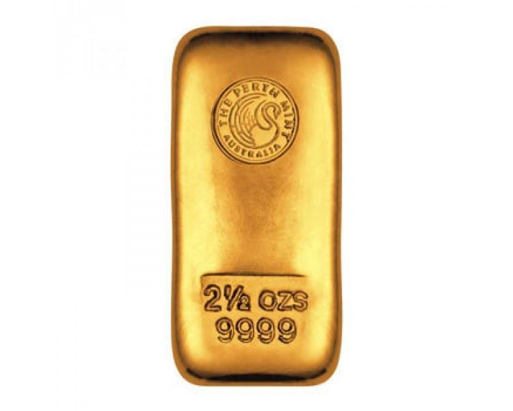 2.5oz-Perth-Mint-Gold-Cast-Bar-front