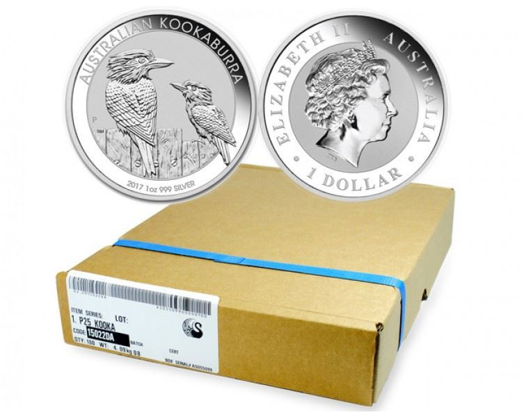 100x-1oz-Kookaburra-Silver-Coin-(2017)-tray-main