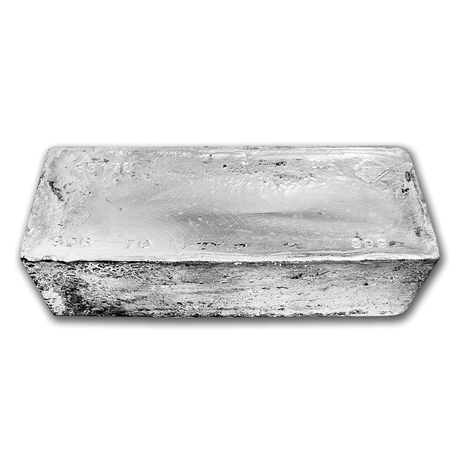 1000oz Silver Bar top