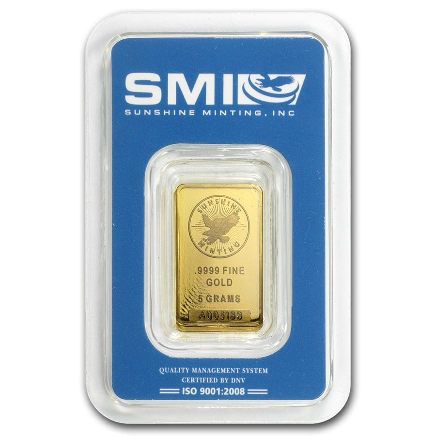 5g-Sunshine Mint-Gold-Minted-Bar-Front