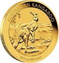 1oz Perth Mint Kangaroo Gold Coin (2013) reverse