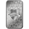 1oz PAMP Love Always Silver Bar - Front