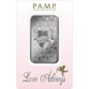 1oz PAMP Love Always Silver Bar - Front in Packaging